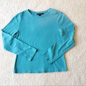 Boden Turquoise Long Sleeve Shirt 14